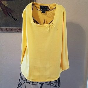 Long sleeve yellow top by requirements small